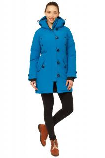 Купить оптом куртку парку зимнюю женскую синего цвета 1802S в интернет магазине MTFORCE.RU