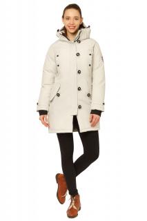 Купить оптом куртку парку зимнюю женскую бежевого цвета 1802B в интернет магазине MTFORCE.RU