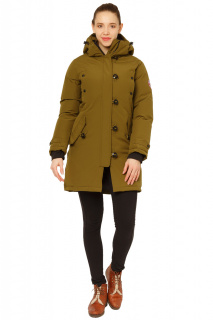 Купить оптом куртку парку зимнюю женскую цвета хаки 1802Kh в интернет магазине MTFORCE.RU