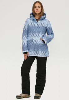 Купить оптом костюм горнолыжный женский синего цвета 01803S в интернет магазине MTFORCE.RU