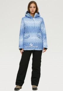 Купить оптом костюм горнолыжный женский голубого цвета 01803Gl в интернет магазине MTFORCE.RU