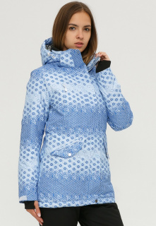Купить оптом куртку горнолыжную женскую голубого цвета 1810Gl в интернет магазине MTFORCE.RU