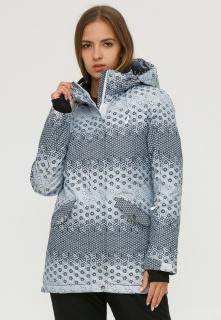 Купить оптом куртку горнолыжную женскую серого цвета 1810Sr в интернет магазине MTFORCE.RU