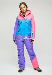 Комбинезон женский зимний фиолетового цвета купить оптом в интернет магазине MTFORCE 18066F