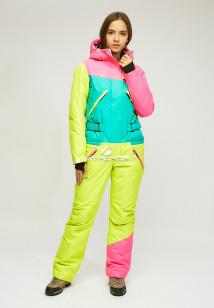 Комбинезон женский зимний зеленого цвета купить оптом в интернет магазине MTFORCE 18066Z