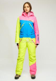 Комбинезон женский зимний синего цвета купить оптом в интернет магазине MTFORCE 18066S