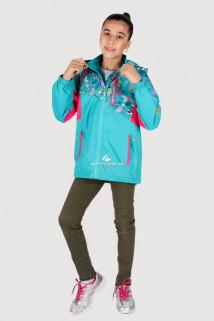Купить оптом олимпийку подростковую для девочки голубого цвета 18092Gl в интернет магазине MTFORCE.RU
