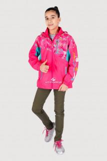 Купить оптом олимпийку подростковую для девочки розового цвета 18092R в интернет магазине MTFORCE.RU