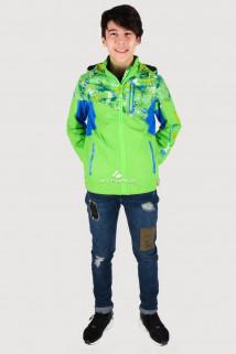 Купить оптом олимпийку подростковую для мальчика салатового цвета 18093Sl в интернет магазине MTFORCE.RU