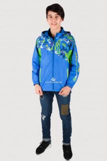 Купить оптом олимпийку подростковую для мальчика синего цвета 18093S в интернет магазине MTFORCE.RU