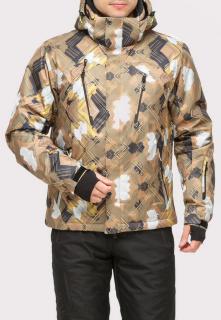 Купить оптом куртку горнолыжную мужская коричневого цвета 18108K в интернет магазине MTFORCE.RU