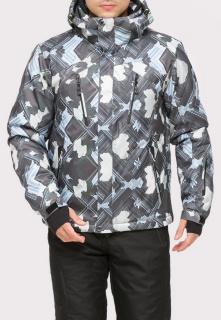 Купить оптом куртку горнолыжную мужская серого цвета 18108Sr в интернет магазине MTFORCE.RU