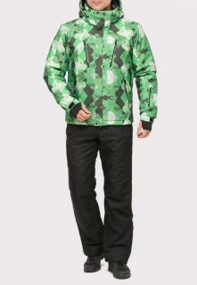 Купить оптом костюм горнолыжный мужской зеленого цвета 018108Z в интернет магазине MTFORCE.RU