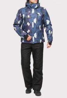 Купить оптом костюм горнолыжный мужской темно-синего цвета 018108TS в интернет магазине MTFORCE.RU