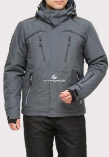 Купить оптом куртку горнолыжную мужская серого цвета 18109Sr в интернет магазине MTFORCE.RU