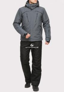 Купить оптом костюм горнолыжный мужской серого цвета 018109Sr в интернет магазине MTFORCE.RU