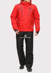 Купить оптом костюм горнолыжный мужской красного цвета 018109Kr в интернет магазине MTFORCE.RU