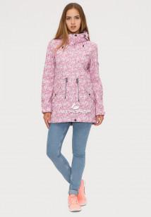 Купить оптом ветровку парку softshell мужскую осень весна розового цвета 18110R в интернет магазине MTFORCE.RU