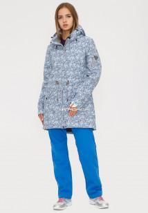 Купить оптом костюм женский softshell синего цвета 018110S в интернет магазине MTFORCE.RU