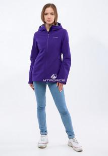 Купить оптом женскую осеннюю весеннюю ветровку softshell темно-фиолетового цвета в интернет магазине MTFORCE 1816-1TF