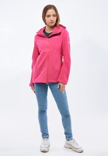 Купить оптом женскую осеннюю весеннюю ветровку softshell малинового цвета в интернет магазине MTFORCE 1816-1M