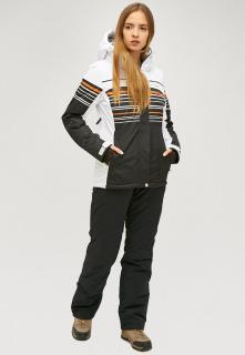 Горнолыжный костюм женский зимний черного цвета купить оптом в интернет магазине MTFORCE 01856ch