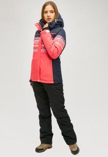 Горнолыжный костюм женский зимний розового цвета купить оптом в интернет магазине MTFORCE 01856r