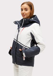 Купить оптом куртку горнолыжную женская темно-синего цвета 1811TS в интернет магазине MTFORCE.RU