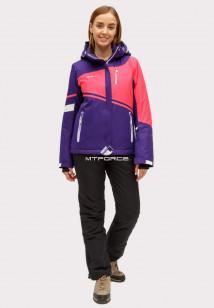 Купить оптом костюм горнолыжный женский темно-фиолетового цвета 01811TF в интернет магазине MTFORCE.RU