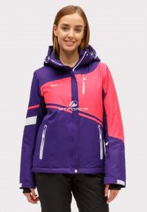 Купить оптом куртку горнолыжную женская темно-фиолетового цвета 1811TF в интернет магазине MTFORCE.RU