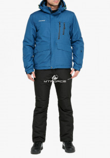Купить оптом костюм горнолыжный мужской голубого цвета 018122Gl в интернет магазине MTFORCE.RU