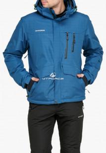Купить оптом куртку горнолыжную мужская голубого цвета 18122Gl в интернет магазине MTFORCE.RU