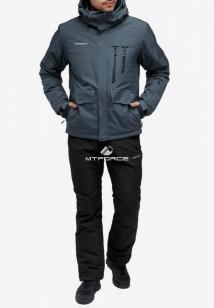 Купить оптом костюм горнолыжный мужской темно-серого цвета 018122TC в интернет магазине MTFORCE.RU