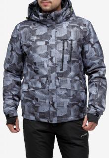 Купить оптом куртку горнолыжную мужская серого цвета 18122-1Sr в интернет магазине MTFORCE.RU