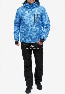 Купить оптом костюм горнолыжный мужской синего цвета 018122-1S в интернет магазине MTFORCE.RU