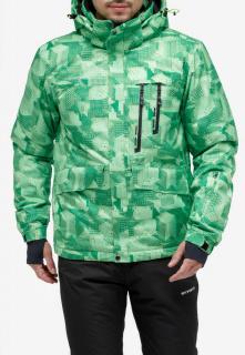 Купить оптом куртку горнолыжную мужская зеленого цвета 18122-1Z в интернет магазине MTFORCE.RU