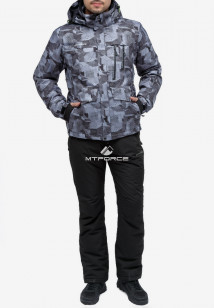 Купить оптом костюм горнолыжный мужской серого цвета 018122-1Sr в интернет магазине MTFORCE.RU