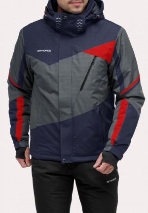 Купить оптом куртку горнолыжную мужская серого цвета 18123Sr в интернет магазине MTFORCE.RU
