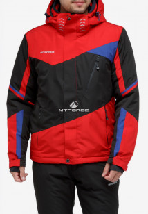 Купить оптом куртку горнолыжную мужская красного цвета 18123Kr в интернет магазине MTFORCE.RU