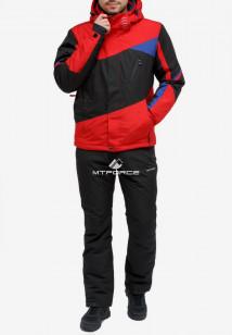 Купить оптом костюм горнолыжный мужской красного цвета 018123Kr в интернет магазине MTFORCE.RU