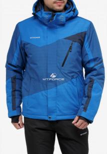 Купить оптом куртку горнолыжную мужская синего цвета 18123S в интернет магазине MTFORCE.RU