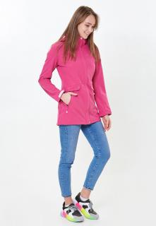 Купить оптом женскую осеннюю весеннюю ветровку softshell розового цвета в интернет магазине MTFORCE 18125-1R