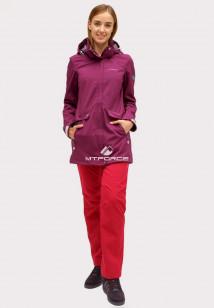 Купить оптом костюм женский softshell темно-фиолетового цвета 018125TF в интернет магазине MTFORCE.RU