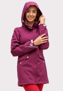 Купить оптом ветровку softshell женская темно-фиолетового цвета 18125TF в интернет магазине MTFORCE.RU