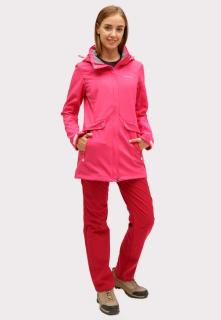 Купить оптом костюм женский softshell малинового цвета 018125M в интернет магазине MTFORCE.RU