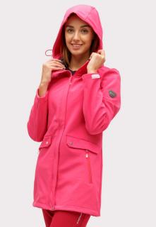Купить оптом ветровку softshell женская малинового цвета 18125М в интернет магазине MTFORCE.RU