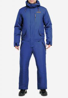 Купить оптом комбинезон горнолыжный мужской синего цвета 18126S в интернет магазине MTFORCE.RU