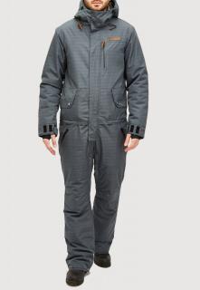 Купить оптом комбинезон горнолыжный мужской темно-серого цвета 18126TC в интернет магазине MTFORCE.RU
