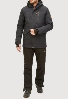 Горнолыжный костюм мужской зимний черного цвета купить оптом в интернет магазине MTFORCE 018128ch
