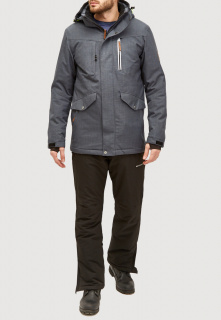 Горнолыжный костюм мужской зимний серого цвета купить оптом в интернет магазине MTFORCE 018128sr